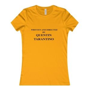 b9850606231db Tops - Written and Directed by Quentin Tarantino T-Shirt